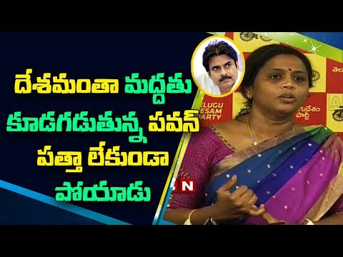 TDP Leader Panchumarthi Anuradha Angry on Janasena Chief Pawan Kalyan over his Tweets