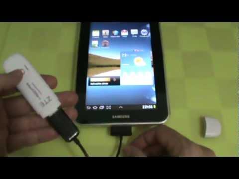 Samsung Galaxy Tab 7.0 - GT-P6210 - Tentando Conectar Modem 3G via Adaptador USB - PT-BR