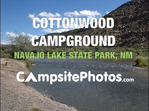 Navajo Lake State Park Cottonwood Campground, NM  Campsite Photos