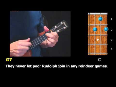 Rudolph the Red-Nosed Reindeer - Ukulele Strum-Along