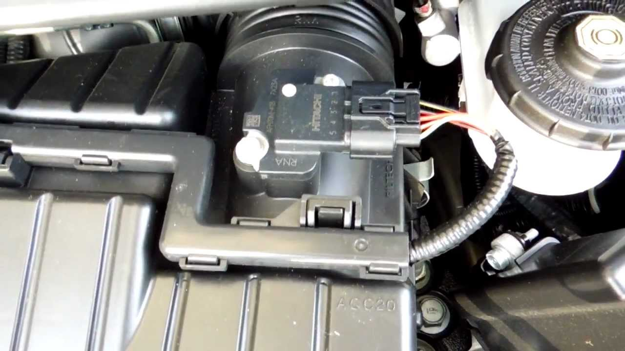 2008 Honda Civic Lx Mass Air Flow Maf Sensor Location Youtube