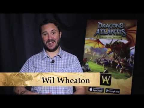 Wil Wheaton Teams up with Dragons of Atlantis Mobile!