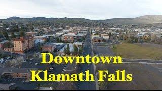 Klamath Falls - Downtown (by drone)