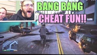 GTA 5 BANG BANG Cheat Code Funny Moments and EPIC REACTIONS PS4 GAMEPLAY!
