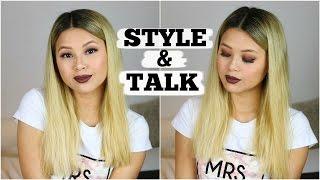 STYLE & TALK ..FAIL - DROGERIE LOOK + REVIEW! | Wimpernschulung, Make-Up Artist, Zukunftspläne