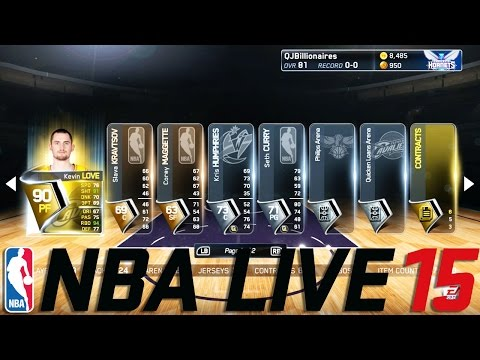 NBA Live 15 Ultimate Team Gameplay Overview How to Play LUT Opening GOLD Premium Packs