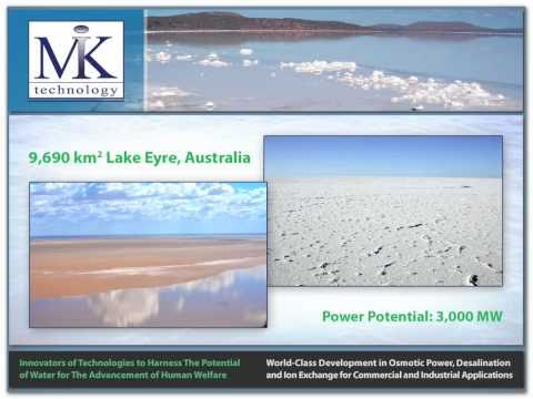 MIK Technology - Osmotic Power Generation from Global Hypersaline Domains - www.miktechnology.com