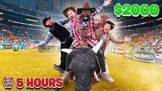 Last To Fall Off The Mechanical Bull Wins $2,000 - Challenge