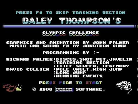 Daley Thompson's Olympic Challenge C64-Title