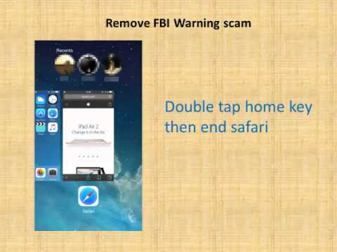 How to remove FBI warning virus from iPhone/iPad in Safari