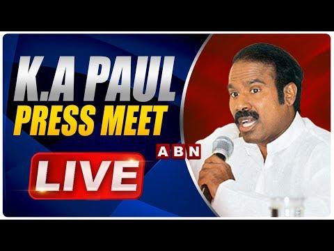 KA Paul Press Meet LIve   Speech at Praja Shanti Party In Visakhapatnam   ABN Telugu