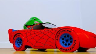 NEW SpiderMan Spider-McQueen Cars 3 Lightning fights Zurg w/ Toy Story Minions Disney Pixar CARS3