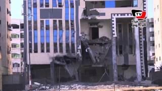الطائرات الإسرائيلية تقصف مقر وزارة الداخلية الفلسطينية فى غزة