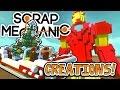 Scrap Mechanic CREATIONS! - GIANT IRON MAN!! [#23] W/AshDubh | Gameplay |