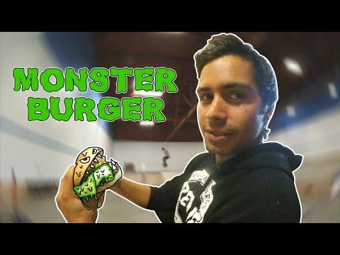 Skating BrailleHouse & A Monster Burger Challenge!!!