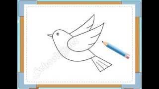 BÉ HỌA SĨ - Thực hành tập vẽ 224: Vẽ con chim