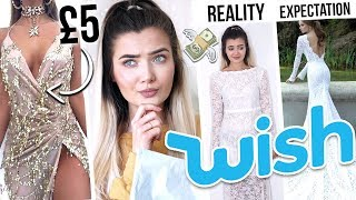 TRYING ON WISH PROM DRESSES UNDER £10! ARE YOU SERIOUS!?