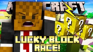 Minecraft ELECTRIC LUCKY BLOCKS MOD (Modded Race Minigame)