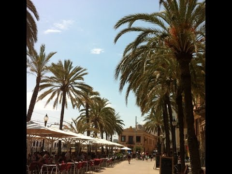 Walking in the center of Badalona Barcelona Spain 2014 - Shopping, Cafe, Beach