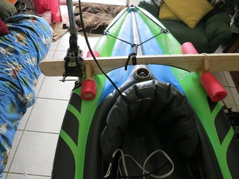 DIY $2 Motor mount for inflatable & rigid kayaks