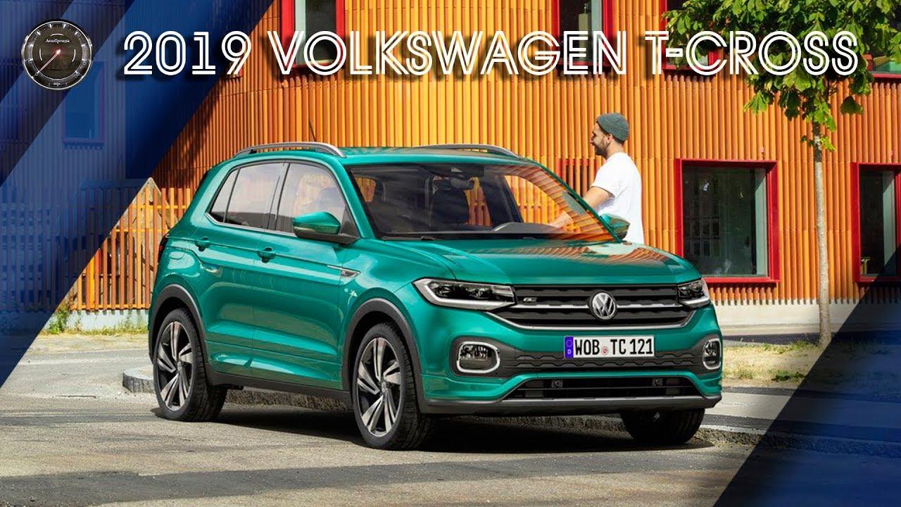 2019 Volkswagen T-Cross   ОБЗОР Кросcовера Фольксваген Т-Кросс 2019
