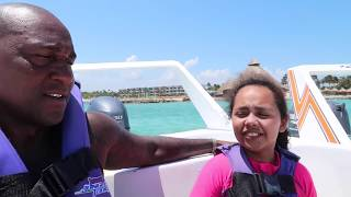 SWIMMING IN SCARY SHARK WATERS! We Have 2 Speed Boats - Family Fun Video For Kids