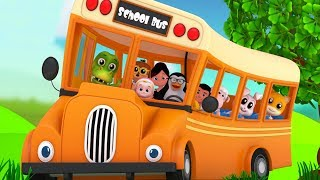 Wheels On The Bus | Nursery Rhymes & Children Songs For Kids By Junior Squad