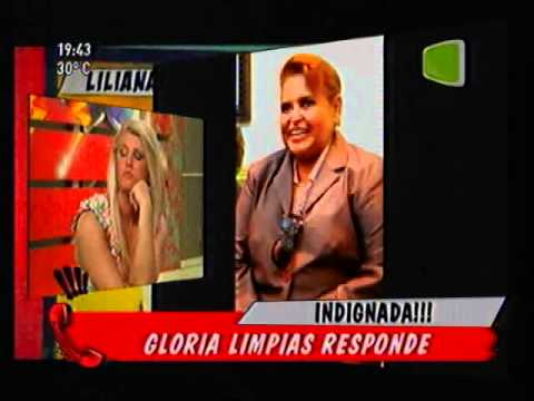 Mili Britez hablando con Gloria Limpias - Teleshow