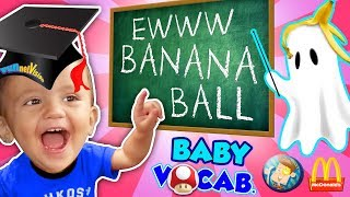 BABY VOCABULARY! Shawn's 1st Set of Words + Super Mario McDonald's & Playground Fun FUNnel Visi