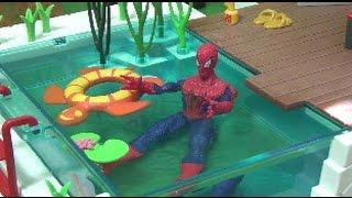 đồ chơi siêu nhân người nhện bơi lội Spiderman Swimming Pool Toys 스파이더맨 수영장놀이 장난감