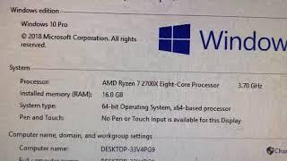 Amd 2700X gtx 1060 6gb Ram 16GB 3000mhz