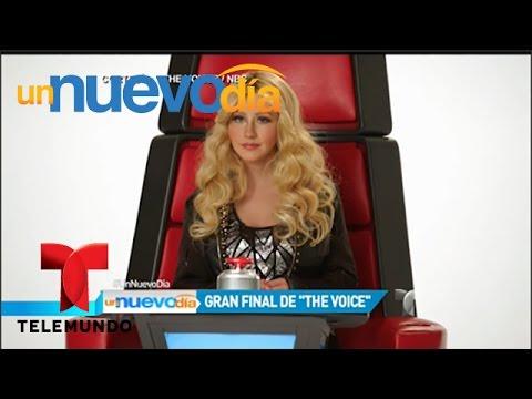 Un Nuevo Día   Christina Aguilera imita a Shakira y otras famosas en final de The Voice   UND