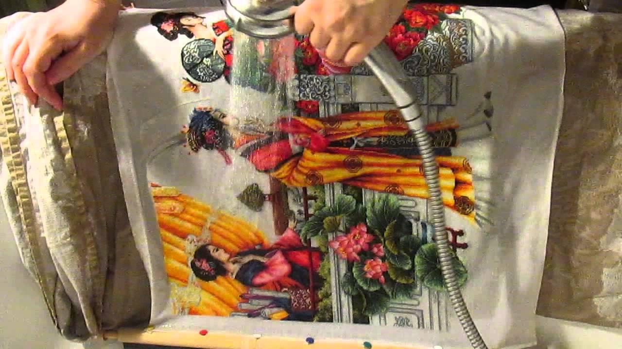 Как стирать готовую вышивку крестиком 2