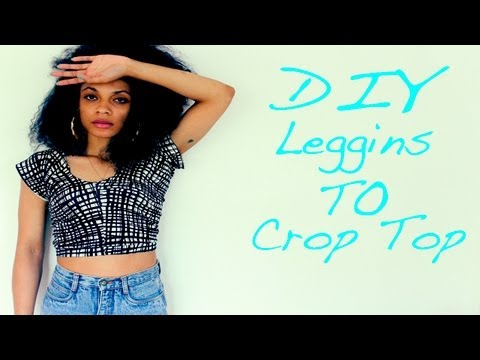 Turn Leggings Into A Crop Top  (NO MORE LINTY LEGGINGS!!!)