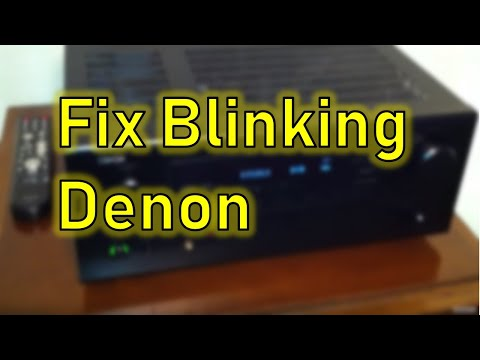 Red Blinking Power Indicator Denon Receiver AVR-488 - shuts off - won't stay on etc.FIX!