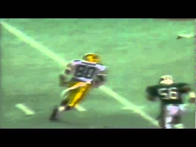 Oregon WR Sam Archer 24 yard catch vs. Hawaii 12-03-1988