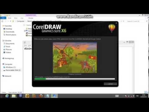 Tutorial Install Corel Draw X6 Di Windows 8 Youtube