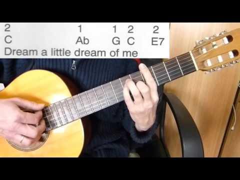 Guitar Accompaniment - Dream a Little Dream of Me - Easy Guitar ...
