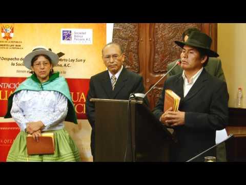 Presentación de la Biblia Quechua Ayacucho en el Congreso de...