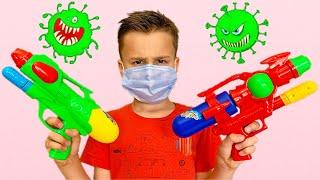 Детские истории про вирусы - Адам и Алиса остаются дома!