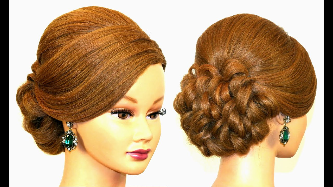 Hair Style Videos Youtube: Hairstyle For Long Hair. Prom Updo
