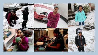 DIML | shopping groceries | busy work day | cooking | snowfall day | kids funtime | swathiskitchen