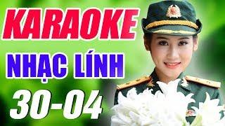 Karaoke Nhạc Lính - Nhạc Cách Mạng | Liên khúc Nhạc Sống Chào Mừng Đại Lễ 30/4 - 1/5 | Trọng Hiếu