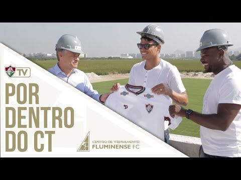 FluTV - Thiago Silva e Marcão visitam as obras do CT