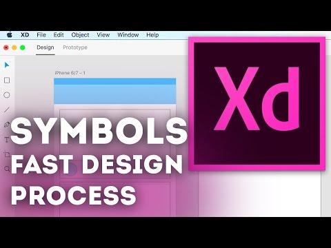 Using Symbols for a fast UI/UX Design Process • Adobe XD Tutorial / Adobe Experience Design Tutorial