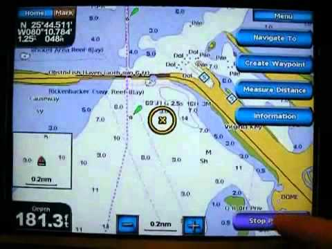 Garmin Gps Marine Chart Basics With The Gpsmap 5208 Youtube