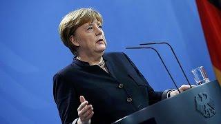 Scroll 36 Secs-Sick Fuckin Commie Bitch Merkel Pushes For More Muds To Rape White German Children