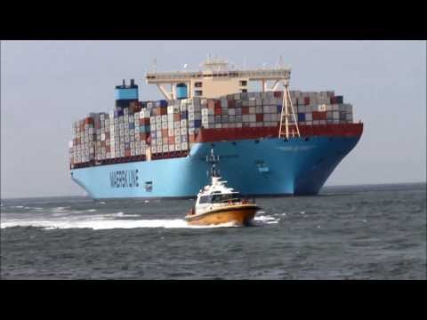 Maersk Mc Kinney Moller arrival  in Rotterdam