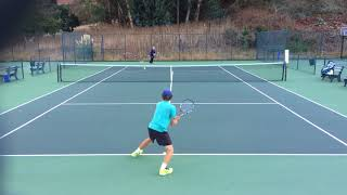 Tyler Koran - Class of 2018 Men's Tennis Recruit - Unedited Video - November 04, 2017