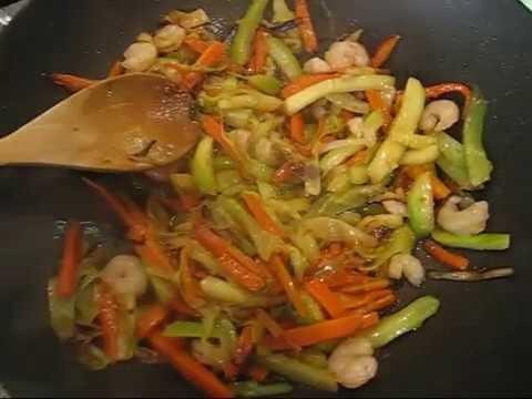Fideos Arroz Wok Fideos de Arroz Con Verduras y